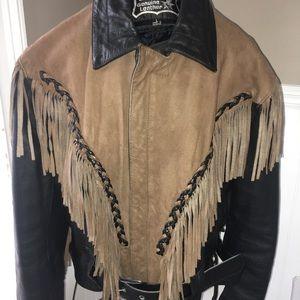 VTG Mens FIRST Leather Biker Jacket